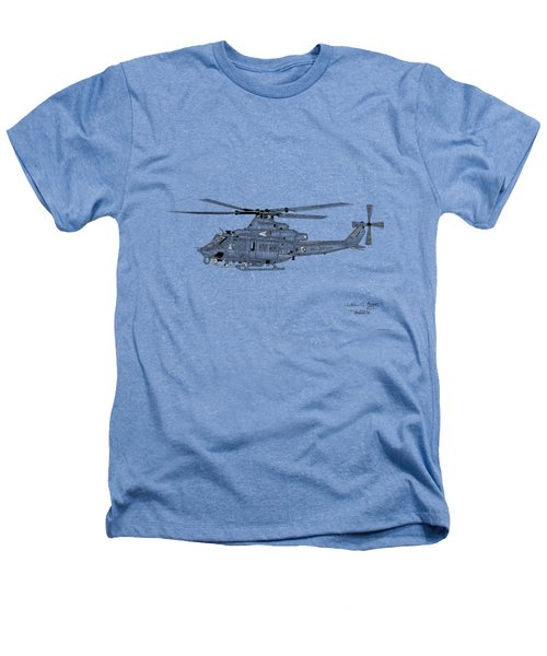 Bell Helicopter Uh-1y Venom Heathers T-Shirt by Arthur Eggers