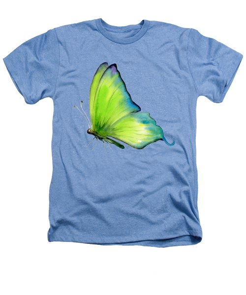 4 Skip Green Butterfly Heathers T-Shirt by Amy Kirkpatrick