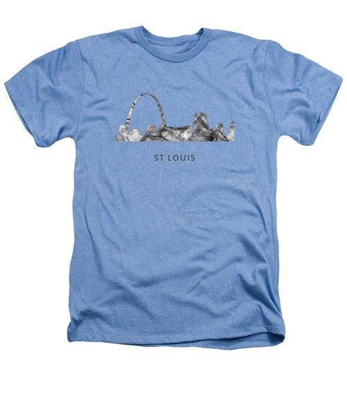 St Louis Missouri Skyline Heathers T-Shirt by Marlene Watson