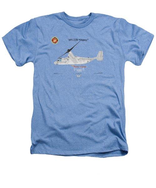 Bell Boeing Mv-22b Osprey Heathers T-Shirt by Arthur Eggers