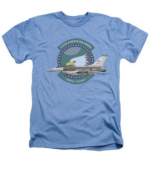 Lockheed Martin F-16c Viper Heathers T-Shirt by Arthur Eggers