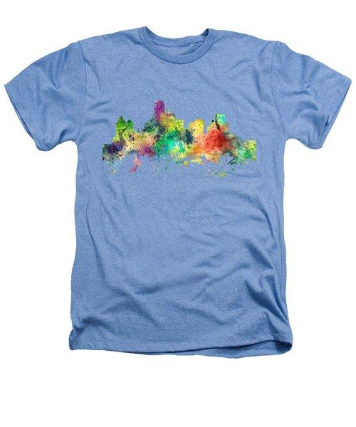 Dallas Texas Skyline Heathers T-Shirt by Marlene Watson
