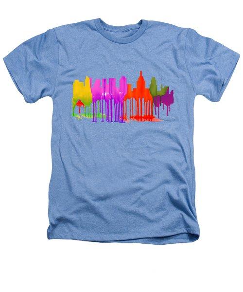 Philadelphia Pennsylvania Skyline Heathers T-Shirt by Marlene Watson