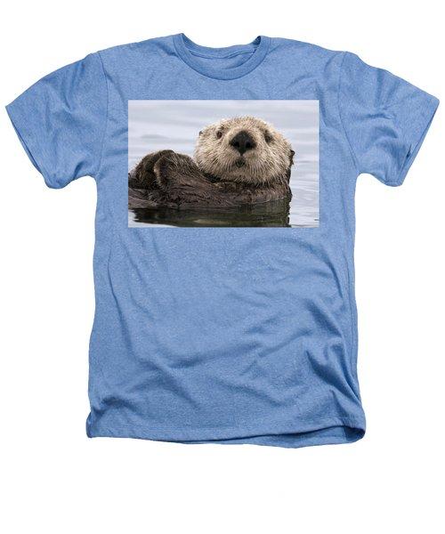 Sea Otter Elkhorn Slough Monterey Bay Heathers T-Shirt by Sebastian Kennerknecht
