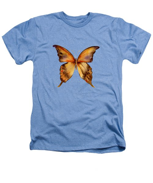 7 Yellow Gorgon Butterfly Heathers T-Shirt