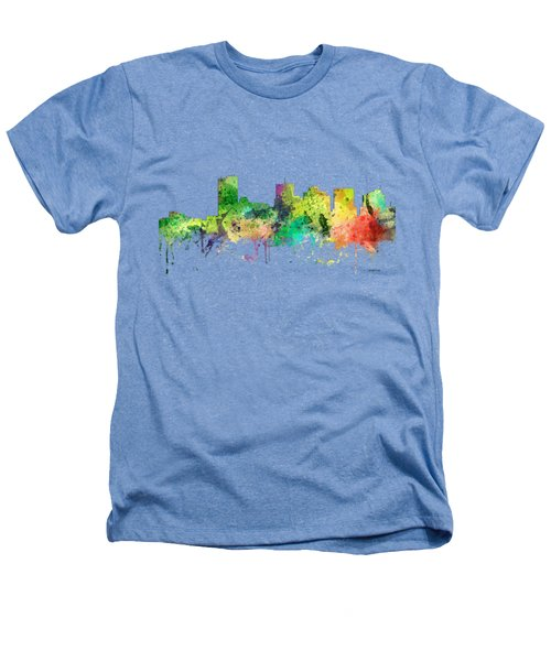 Phoenix Arizona Skyline Heathers T-Shirt by Marlene Watson