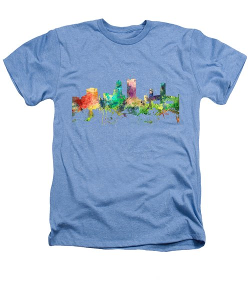 Jacksonville Florida Skyline Heathers T-Shirt by Marlene Watson