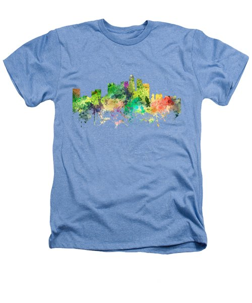 Los Angeles California Skyline Heathers T-Shirt by Marlene Watson