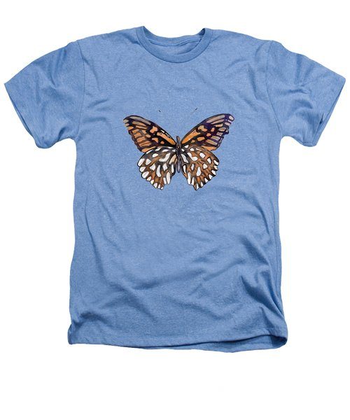 9 Mexican Silver Spot Butterfly Heathers T-Shirt