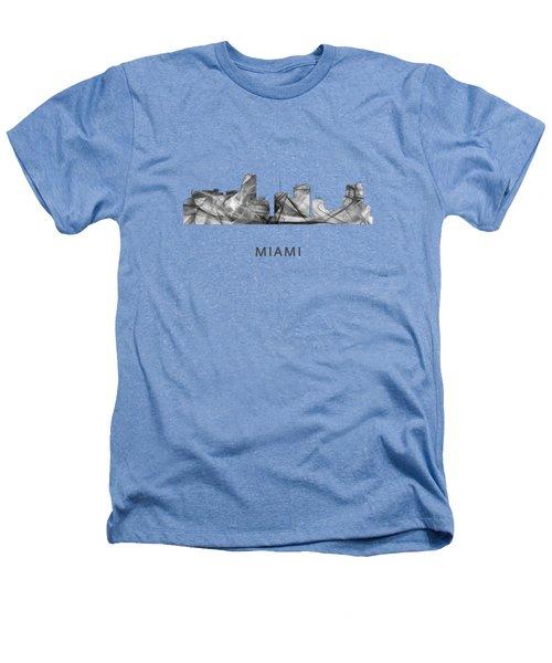 Miami Florida Skyline Heathers T-Shirt by Marlene Watson