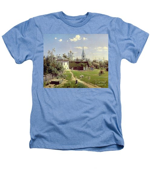A Small Yard In Moscow Heathers T-Shirt by Vasilij Dmitrievich Polenov
