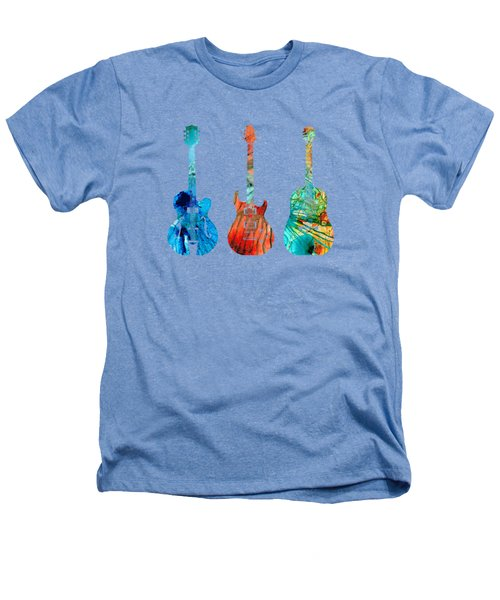 Abstract Guitars By Sharon Cummings Heathers T-Shirt by Sharon Cummings
