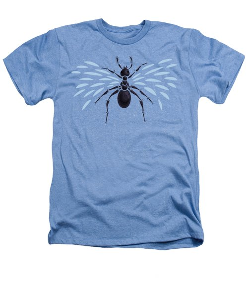 Abstract Winged Ant Heathers T-Shirt by Boriana Giormova