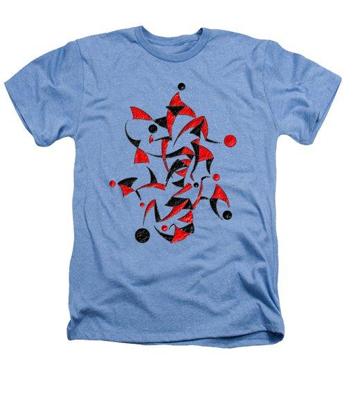 Abugila V6 - Digital Abstract Heathers T-Shirt by Cersatti