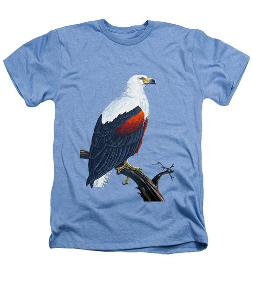 African Fish Eagle Heathers T-Shirt