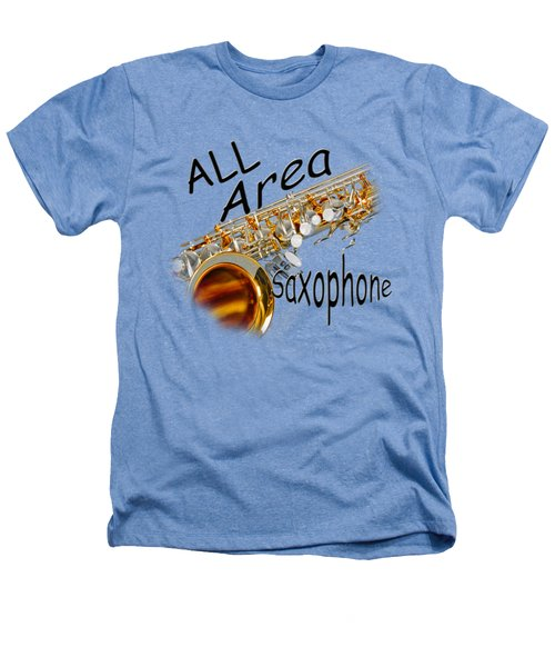 All Area Saxophone Heathers T-Shirt by M K  Miller