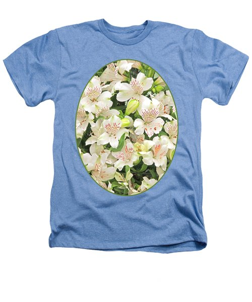 Alluring Alstroemeria - Peruvian Lilies Heathers T-Shirt by Gill Billington