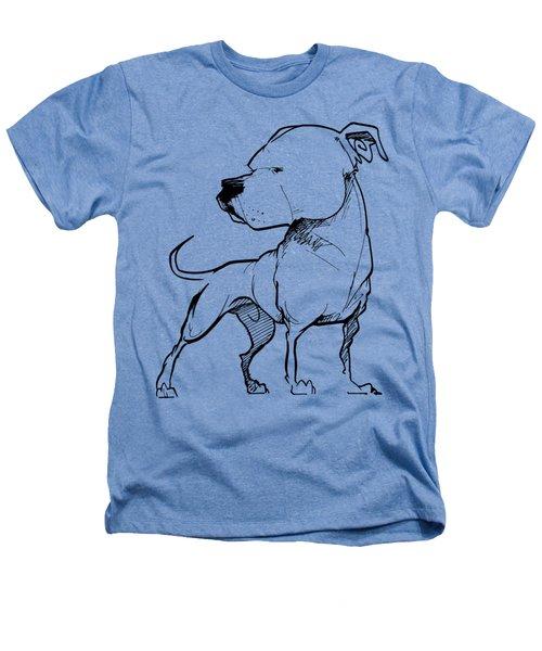 American Bulldog Gesture Sketch Heathers T-Shirt
