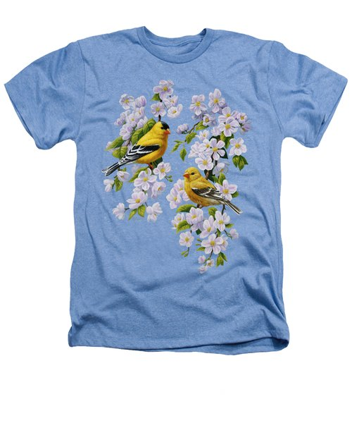 American Goldfinch Spring Heathers T-Shirt by Crista Forest
