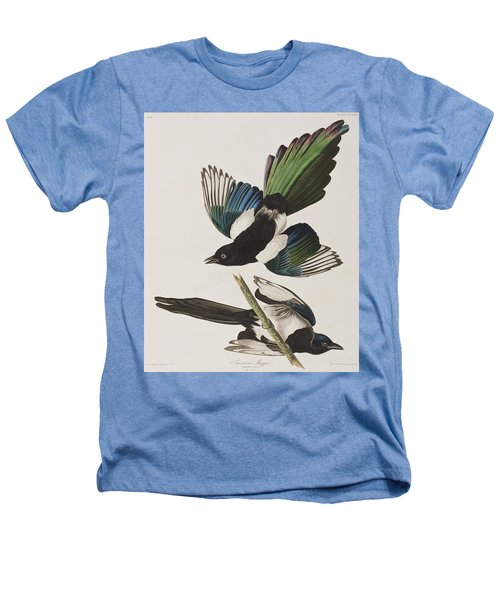 American Magpie Heathers T-Shirt by John James Audubon