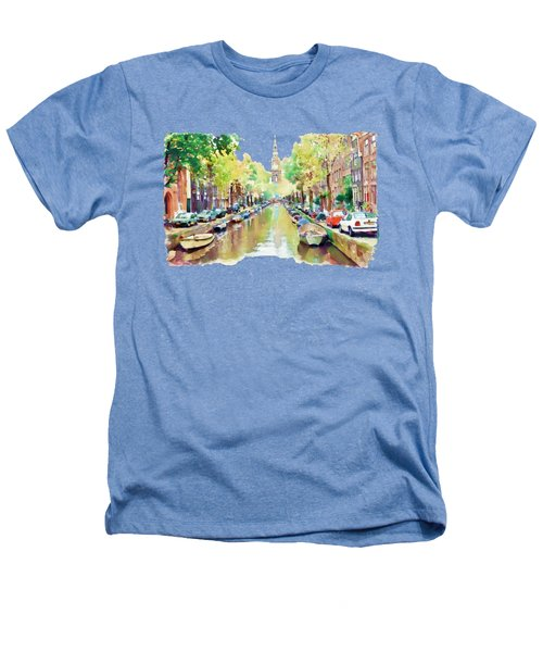 Amsterdam Canal 2 Heathers T-Shirt by Marian Voicu