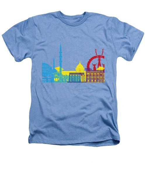 Ankara Skyline Pop Heathers T-Shirt by Pablo Romero