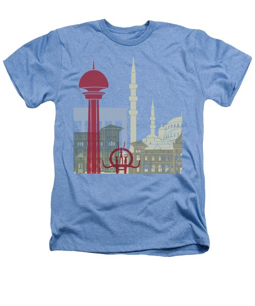 Ankara Skyline Poster Heathers T-Shirt by Pablo Romero