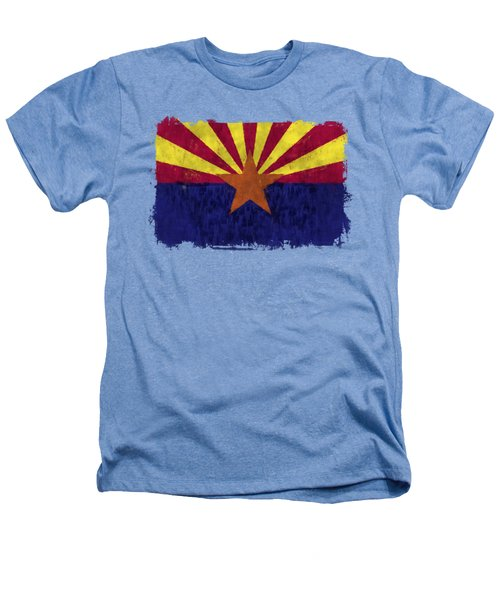 Arizona Flag Heathers T-Shirt by World Art Prints And Designs
