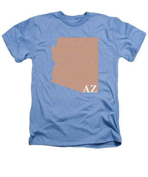 Arizona State Map With Text Of Constitution Heathers T-Shirt by Design Turnpike