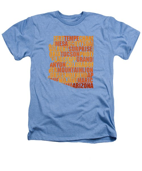 Arizona State Outline Word Map Heathers T-Shirt