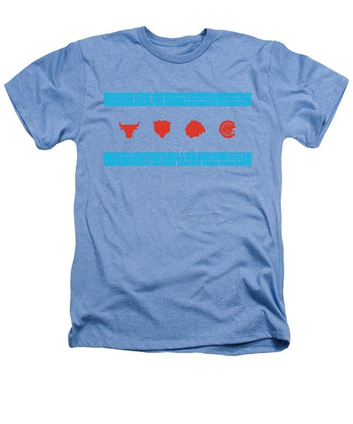 Chicago Flag Sports Teams Heathers T-Shirt