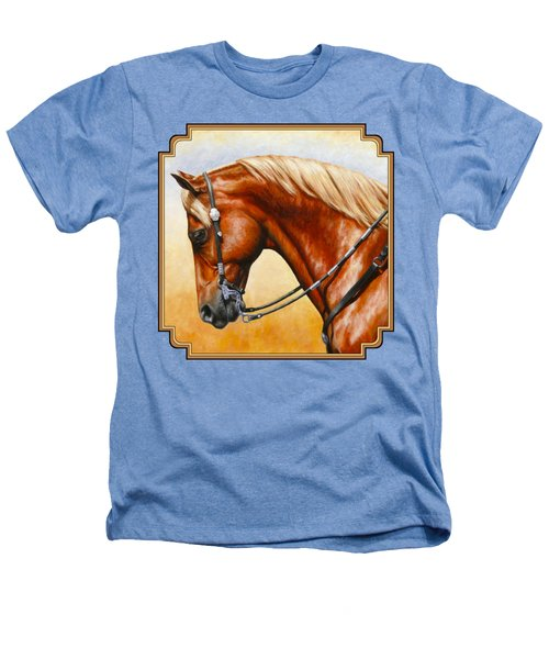 Precision - Horse Painting Heathers T-Shirt by Crista Forest
