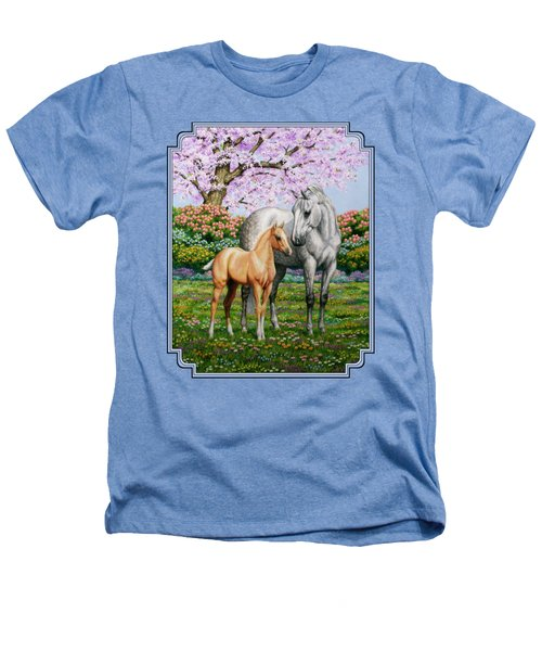 Spring's Gift - Mare And Foal Heathers T-Shirt