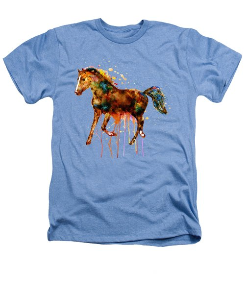 Watercolor Horse Heathers T-Shirt by Marian Voicu