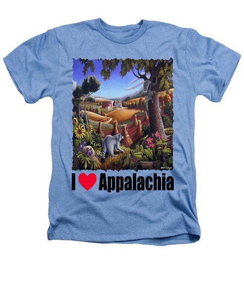 I Love Appalachia - Coon Gap Holler Country Farm Landscape 1 Heathers T-Shirt by Walt Curlee
