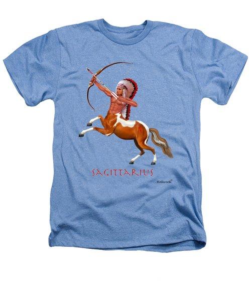 Native American Sagittarius Heathers T-Shirt by Glenn Holbrook