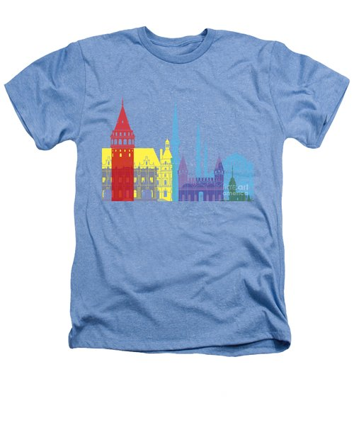 Istanbul Skyline Pop Heathers T-Shirt by Pablo Romero