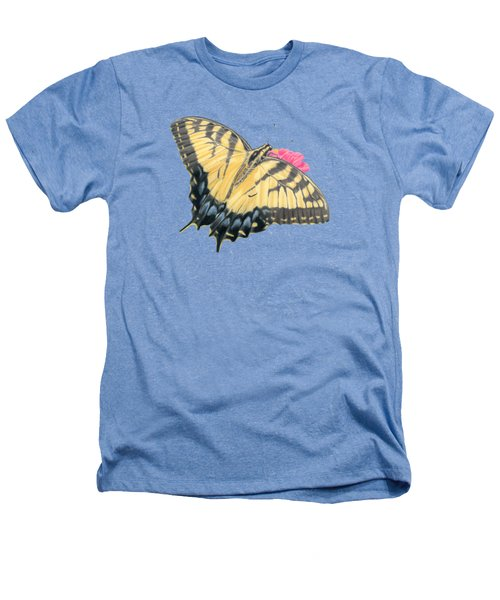 Swallowtail Butterfly And Zinnia- Transparent Backgroud Heathers T-Shirt