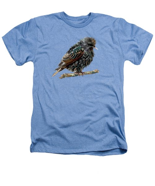 Wet Starling Heathers T-Shirt by Bamalam Photography