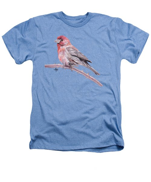 House Finch Heathers T-Shirt by Angeles M Pomata
