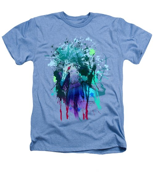 Victoria Crowned Pigeon Heathers T-Shirt by Clinton Caleb