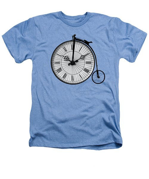 Time To Ride Penny Farthing Heathers T-Shirt