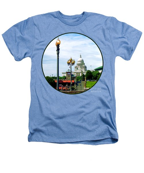 Capitol Building Seen From Waterplace Park Heathers T-Shirt by Susan Savad