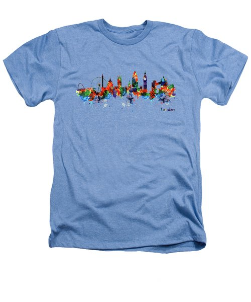 London Watercolor Skyline Silhouette Heathers T-Shirt