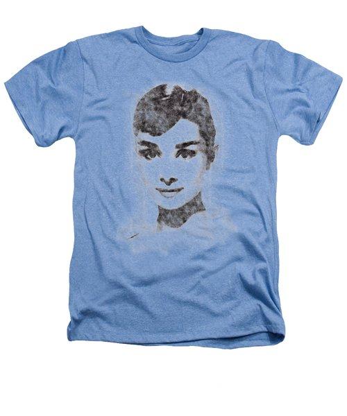Audrey Hepburn Portrait 02 Heathers T-Shirt by Pablo Romero
