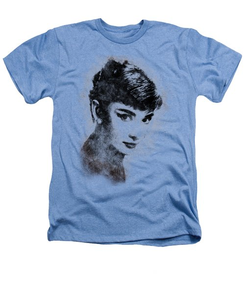 Audrey Hepburn Portrait 03 Heathers T-Shirt by Pablo Romero