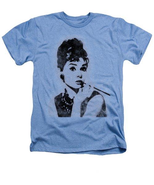 Audrey Hepburn Portrait 04 Heathers T-Shirt by Pablo Romero