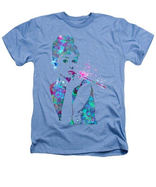 Audrey Hepburn Watercolor Pop Art  Heathers T-Shirt