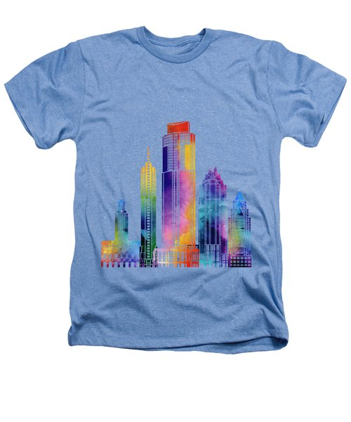 Austin Landmarks Watercolor Poster Heathers T-Shirt