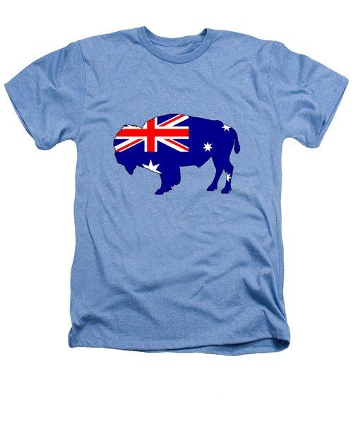 Australian Flag - Bison Heathers T-Shirt by Mordax Furittus